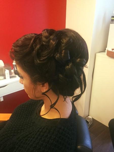 coiffure, soirée, Fadyla_K, chignon