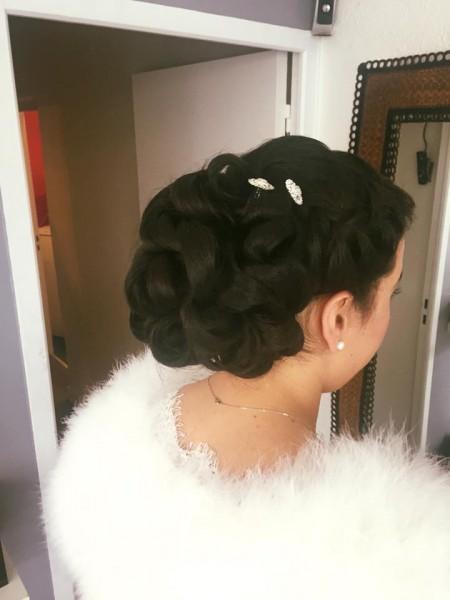 chignon, mariée, coiffure, Fadyla_K, jour J