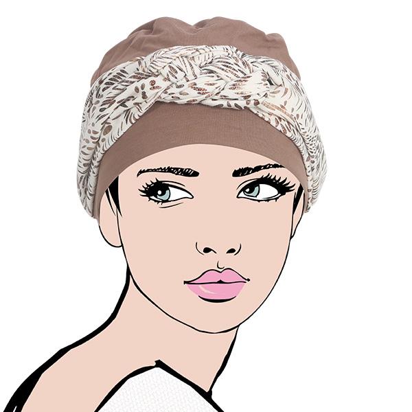 turban, nude, naturel