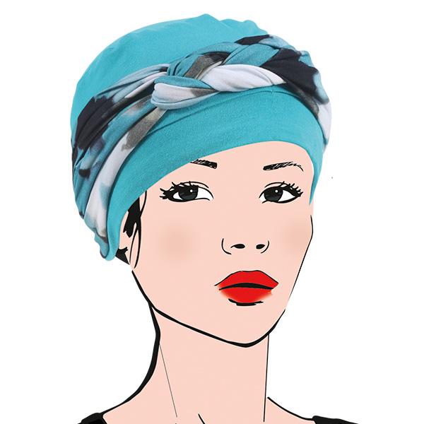 turban, turquoise, été